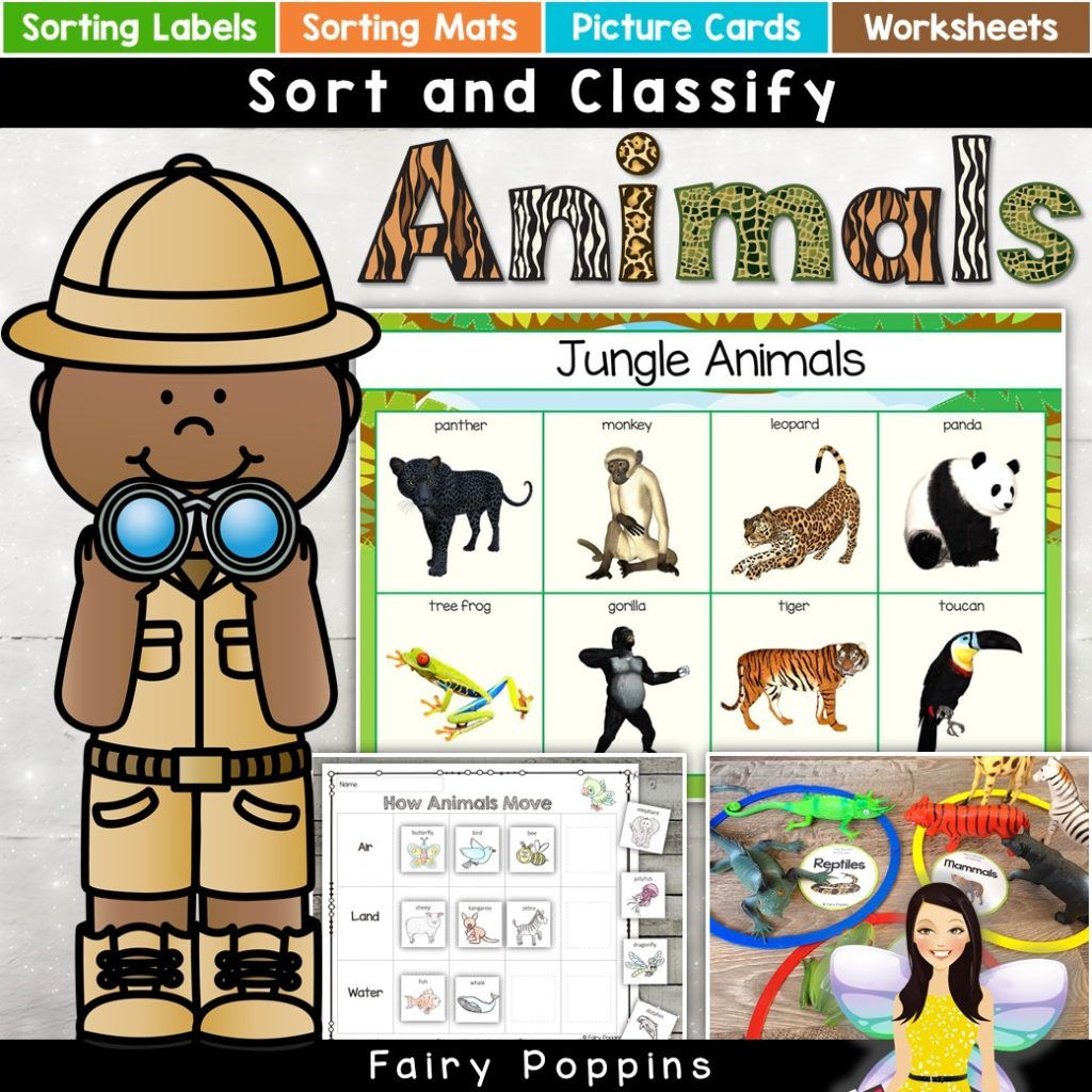 Animal Habitat Sort Amp Classify Activities