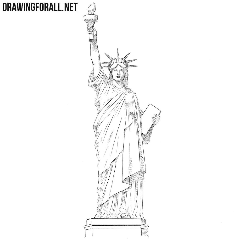 How to draw the statue of liberty art statue of liberty drawing