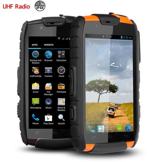 IP68 rugged Waterproof phone Shockproof Android VHF UHF