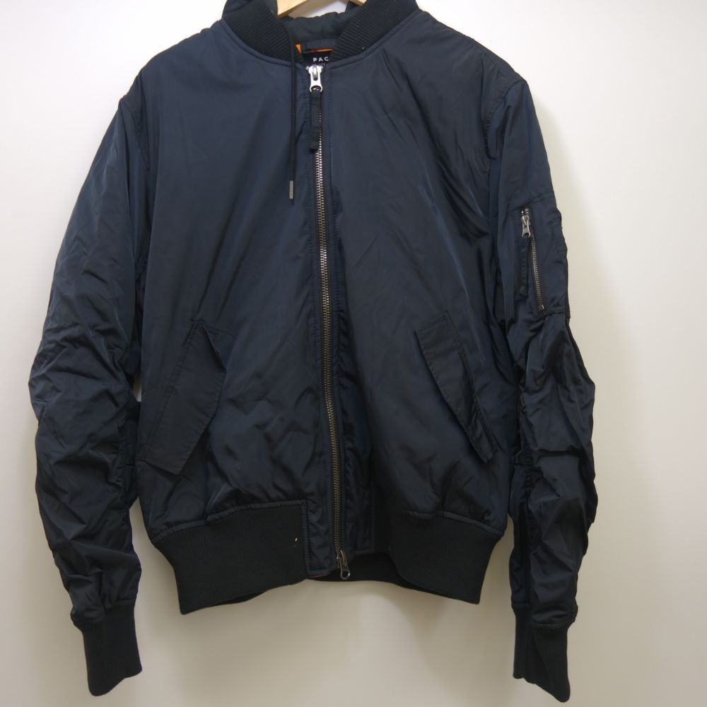 affa5d8f0f NEW Pacsun Mens Black Wind Resistant Zip Up Varsity Bomber Hooded Jacket  Large #Pacsun #Bomber