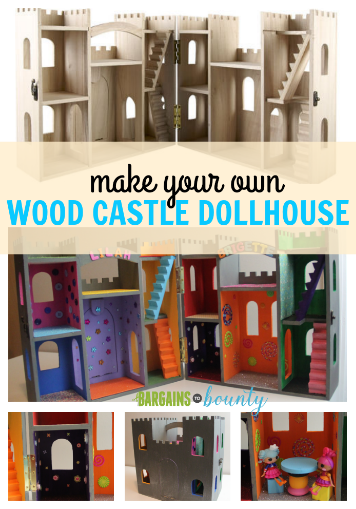 diy gift idea on a budget make your own wood castle dollhouse save on a prefab wood castle. Black Bedroom Furniture Sets. Home Design Ideas
