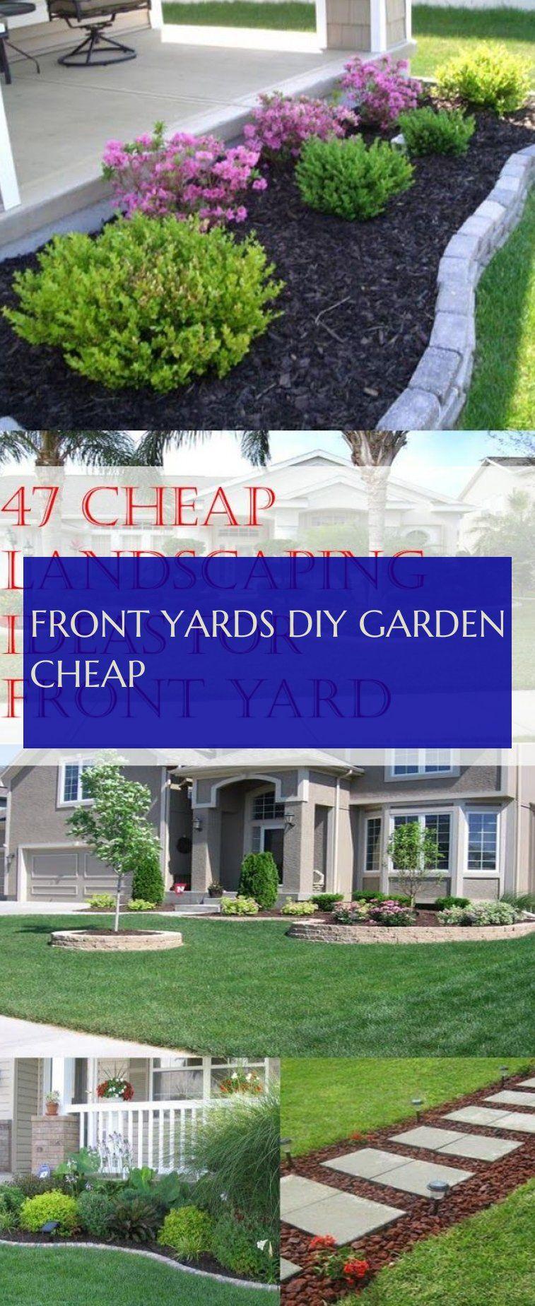 Front Yards diy garden cheap