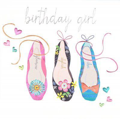 Birthday Card Birthday Shoes Whimsical Art Pinterest Card