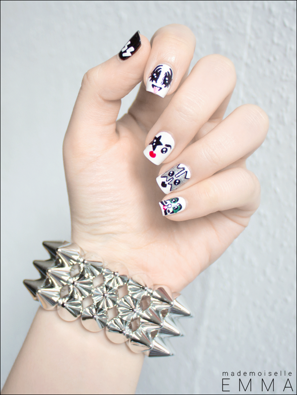 Nail Art Rock N Roll - By Mademoiselle Emma | nailspiration | Pinterest