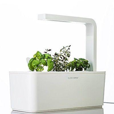 Click Grow Smart Herb Garden Indoor Kit With Basil Thyme