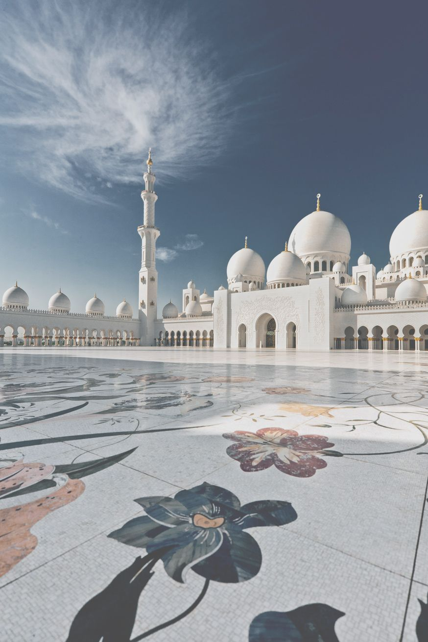 Sheikh Zayed Grand Mosque Is Located In Abu Dhabi The Capital