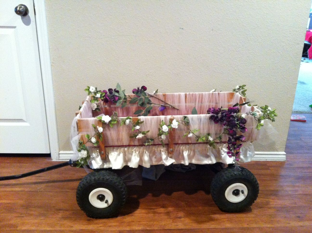 Flowering Winter Wedding at The Club at Bella Collina in ... |Flower Girl Wagon Wedding Party