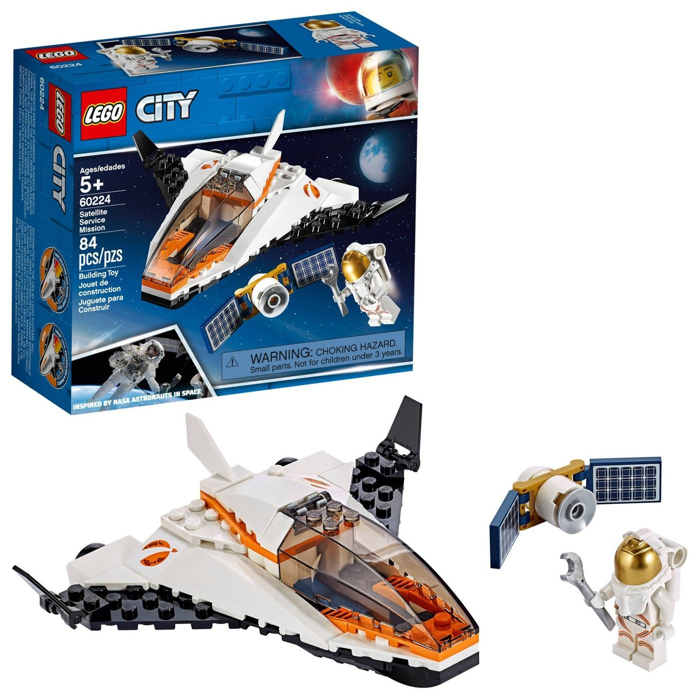 Lego City Space Satellite Service Mission 60224 Space Shuttle Toy Building Set 84pc Affiliate Satellite Affiliate Lego City Space Lego City Lego City Sets