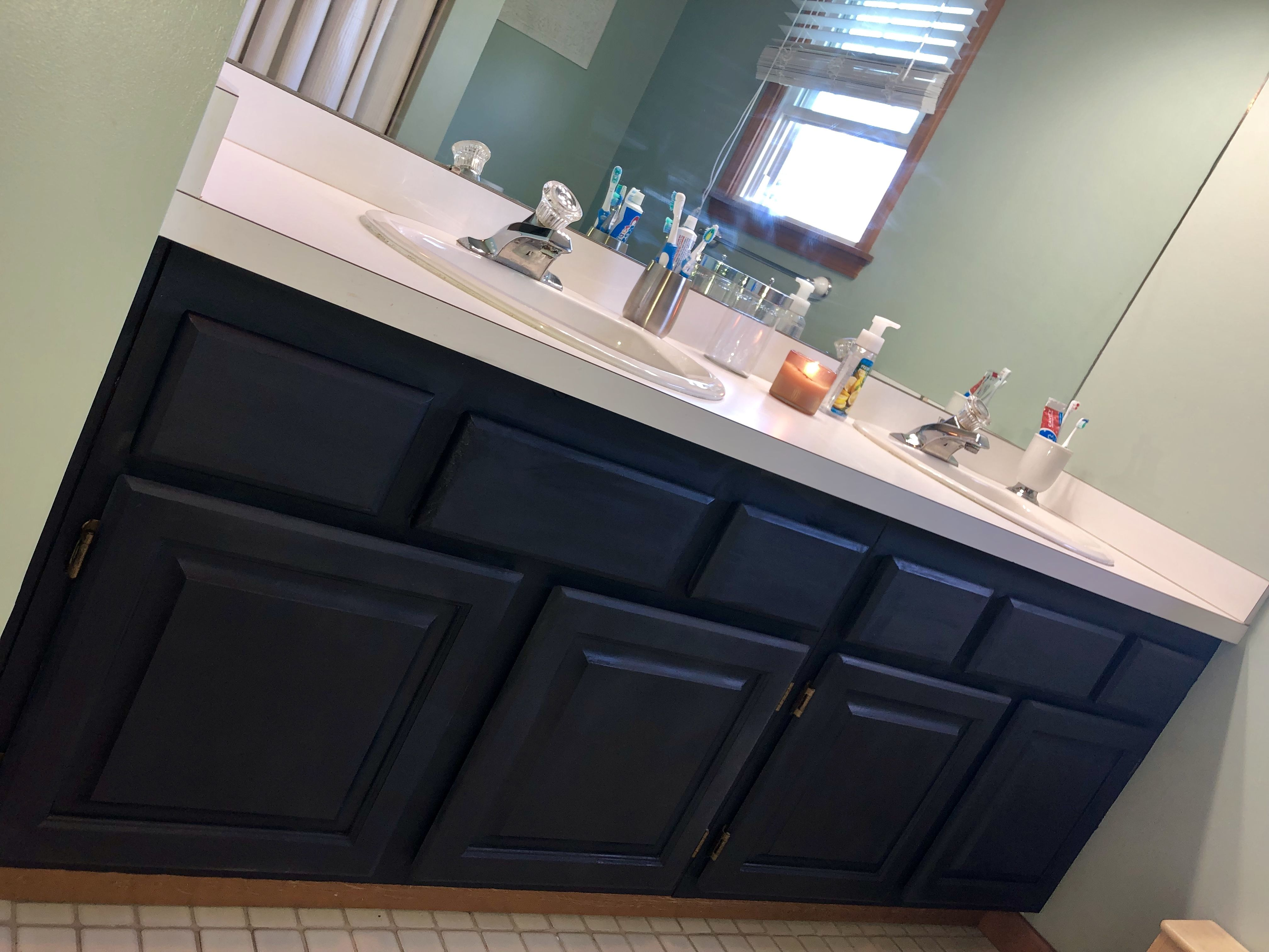 Rustoleum Chalk Paint In Charcoal Oak Bathroom Vanity Rustoleum Chalk Paint Rustoleum