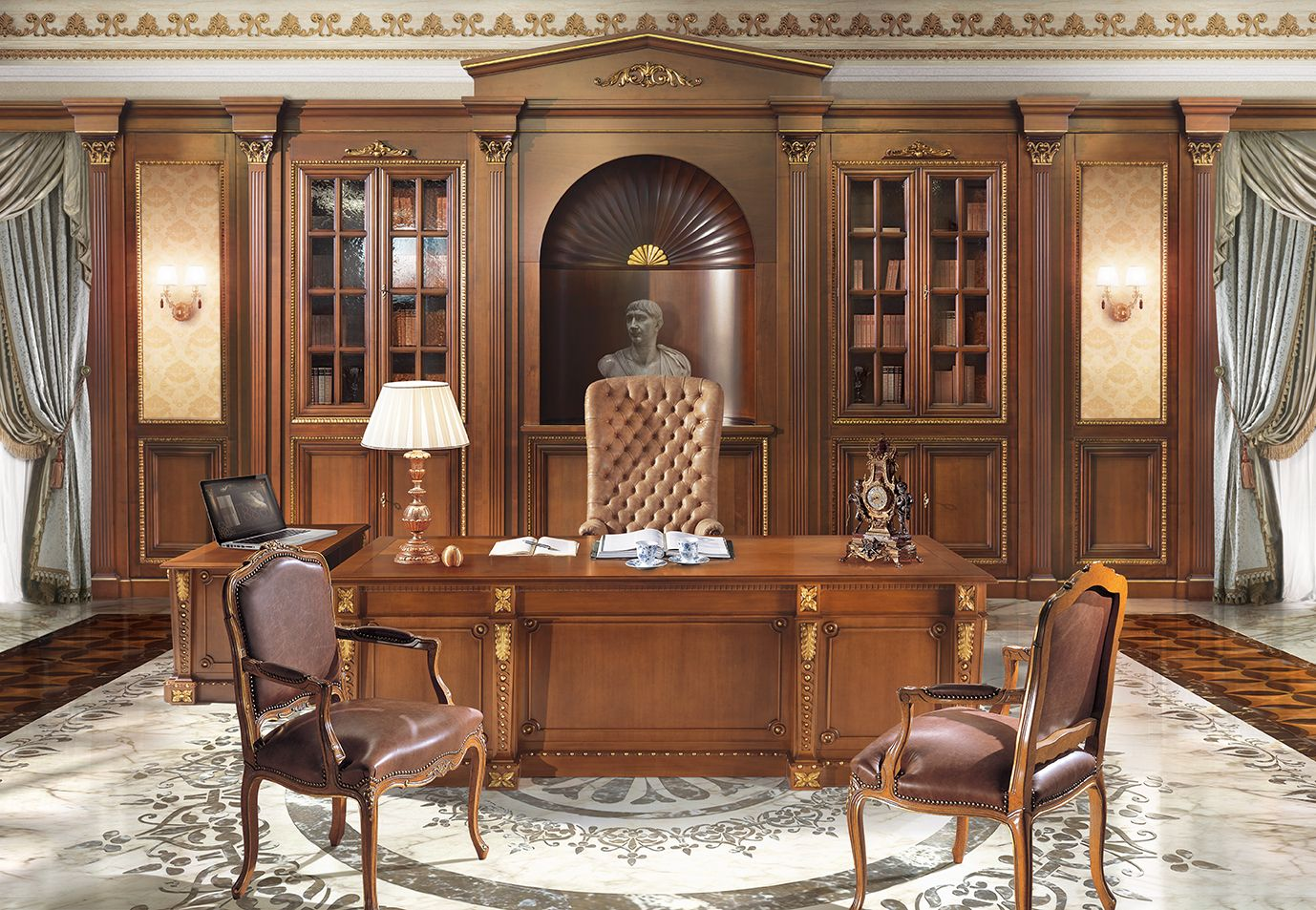 Brilliant Canova Luxury Italian Design Office Furniture Library Complete Home Design Collection Papxelindsey Bellcom