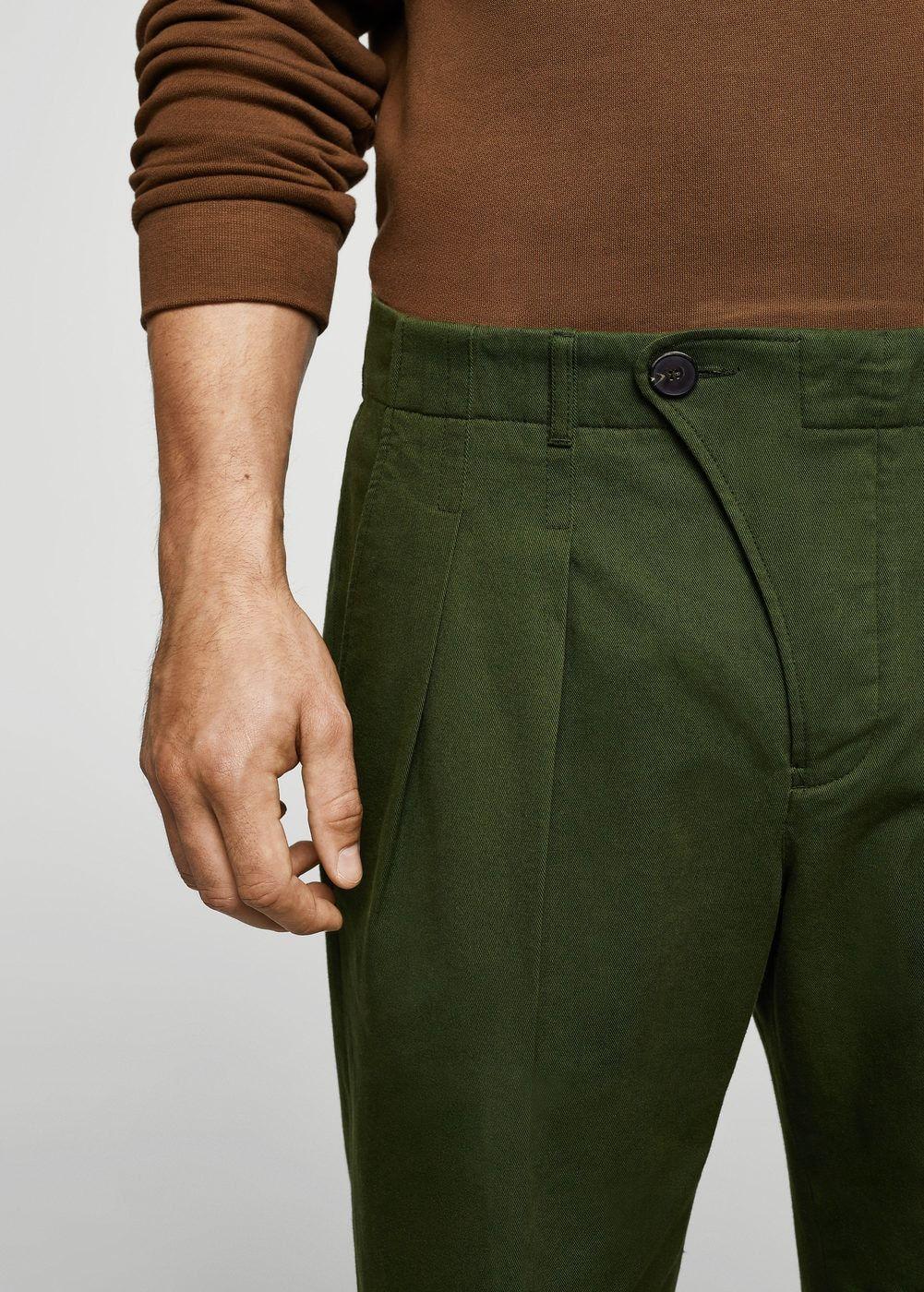 magasin officiel grandes marques dernière remise Chino en coton à pinces - Homme | L'habit fait l'homme. in ...