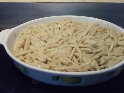 sopa de coditos en salsa de pimientos morrones y cilantro recipe