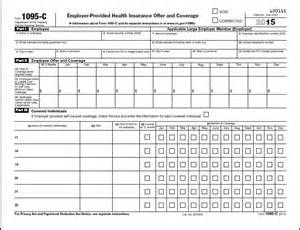 Form 1095 C Employer Provided Health Insurance Offer And Coverage