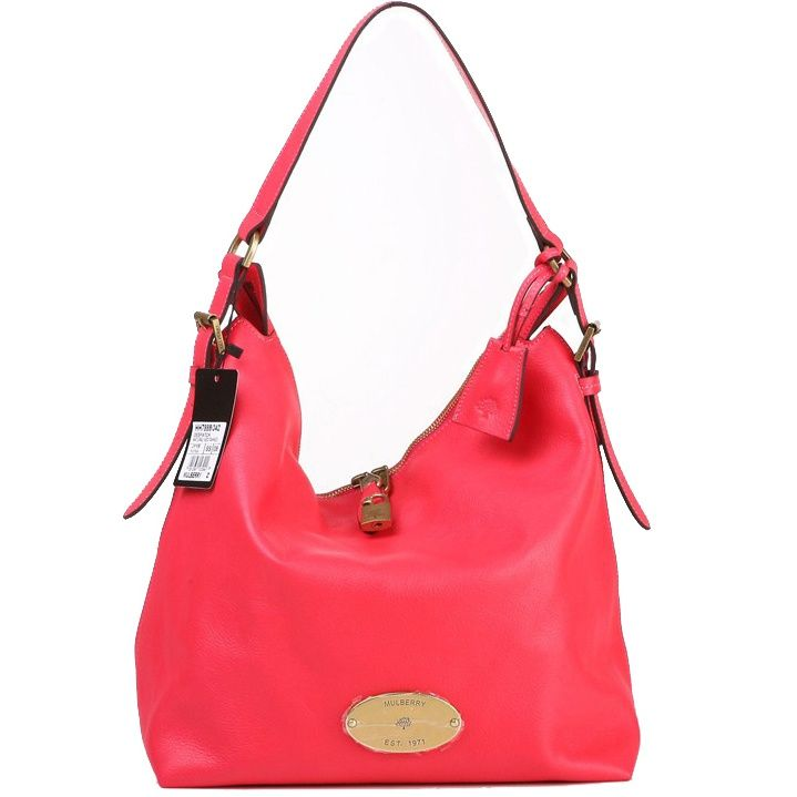432ecca45c Mulberry Womens Bella Leather Hobo Shoulder Bag Red 7889-342RED ...
