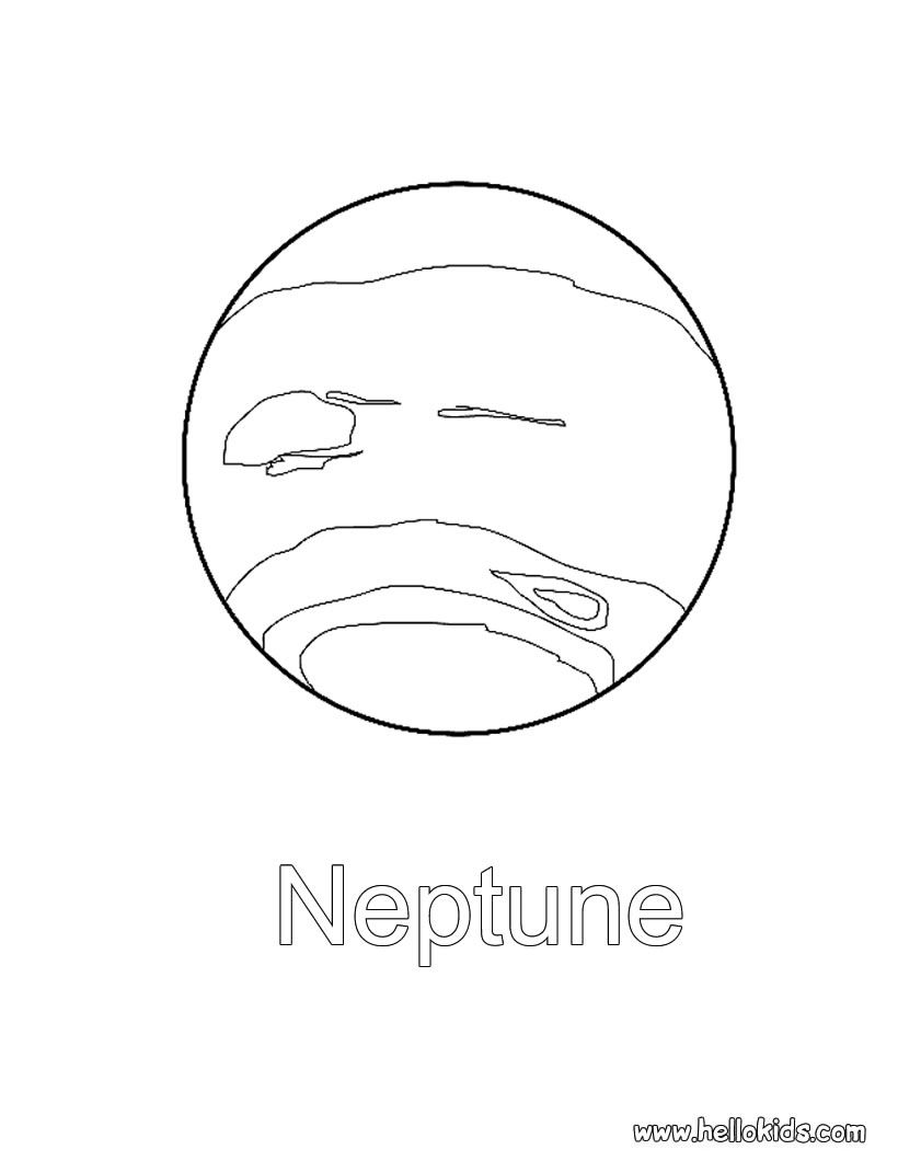 Neptune Coloring Page Planet Coloring Pages Space Coloring