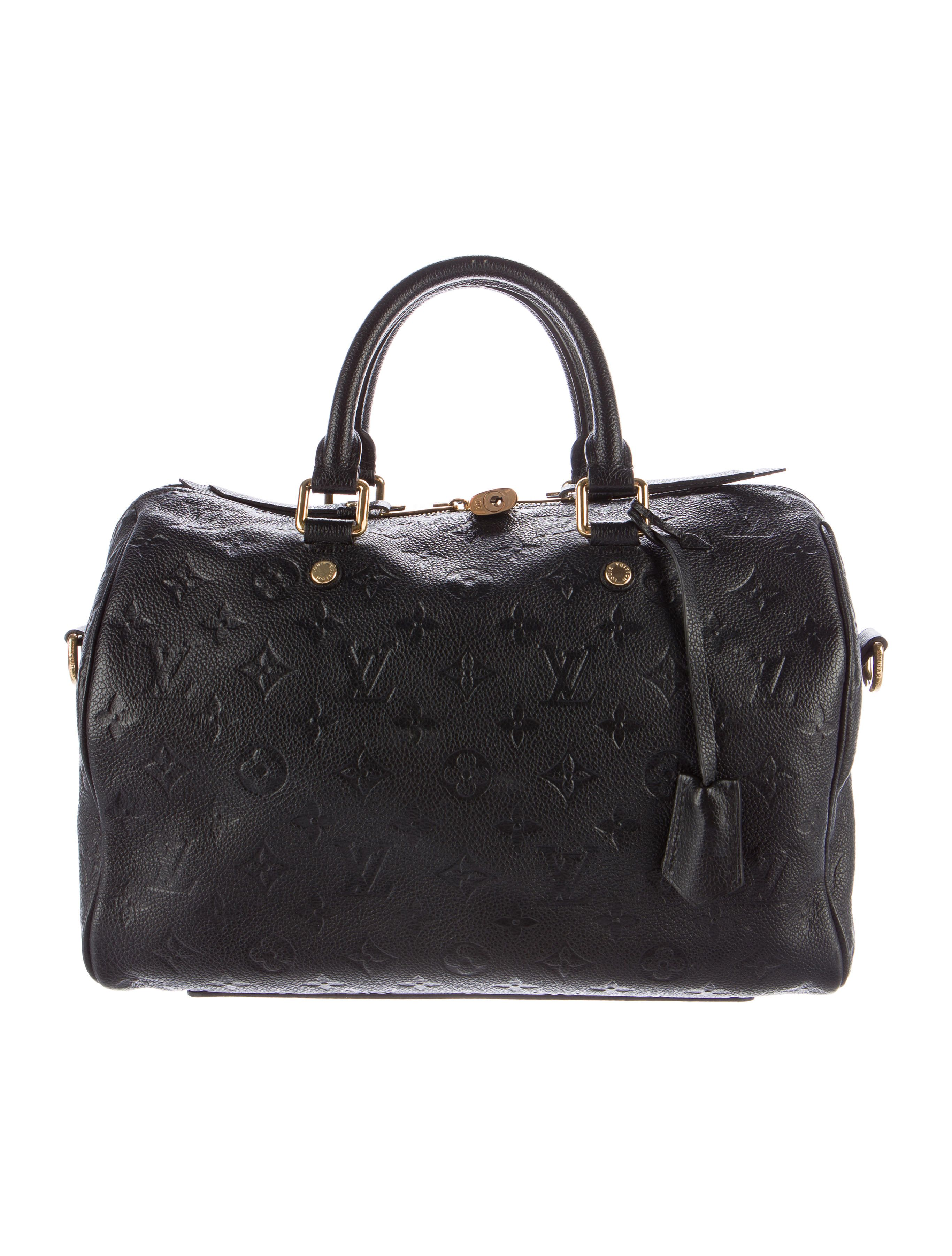 4e06d337091d Black monogram Empreinte leather Louis Vuitton Speedy Bandoulière 30 with  brass hardware