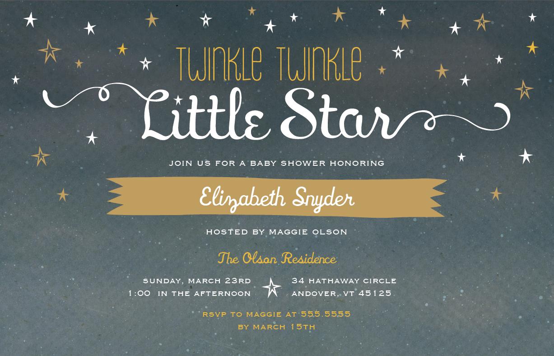 Twinkle Twinkle Little Star Baby Shower   Vistaprint   Baby Shower ...