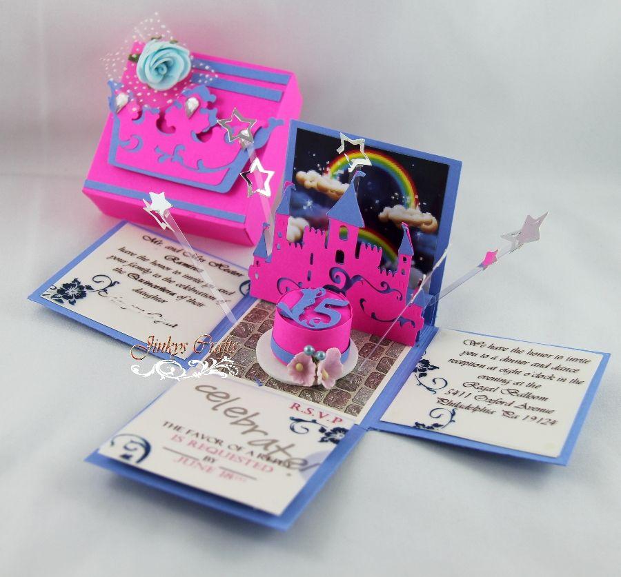 disney theme quinceanera   jinky's crafts & designs: quinceanera, Birthday invitations