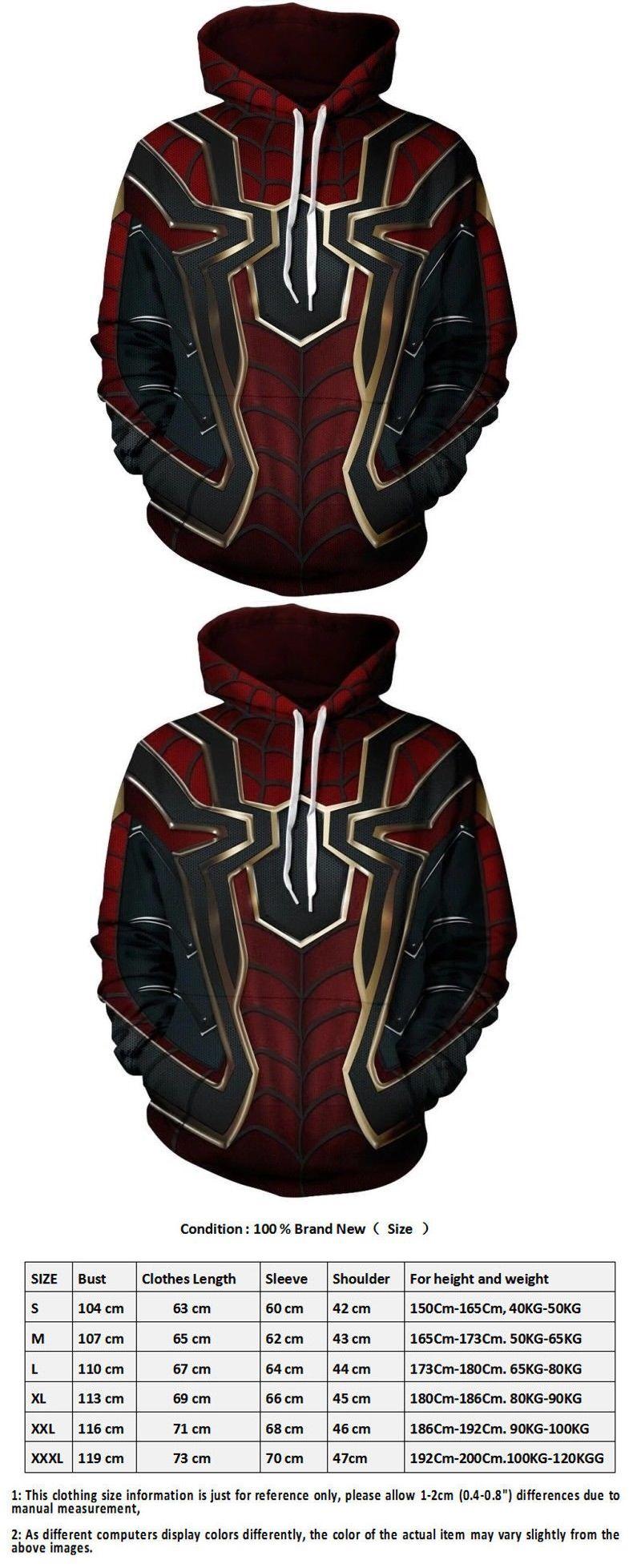 bb3e67c4 Men 52762: Avengers Infinity War Spiderman Sweater Hoodie Iron Spider Coat  Cosplay Costume -> BUY IT NOW ONLY: $22.99 on #eBay #avengers #infinity ...