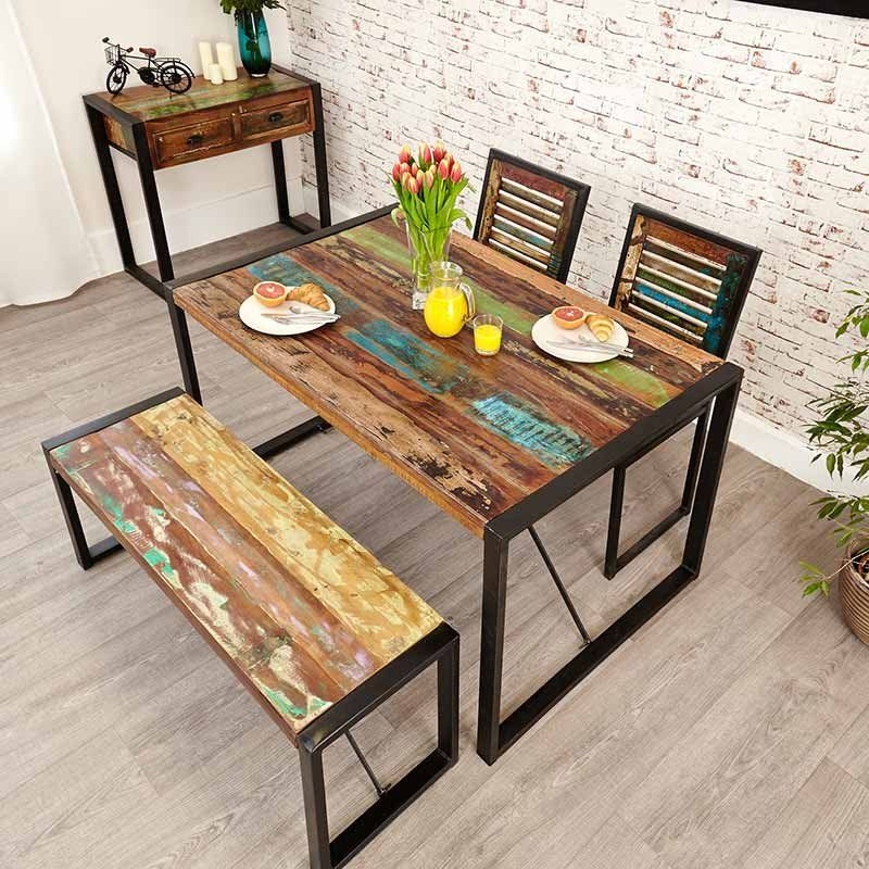 Urban Chic Reclaimed Wood Dining Table Small In 2019