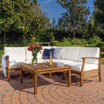 Lark Manor Pardue 6 Piece Sectional Set With Cushions Fabric