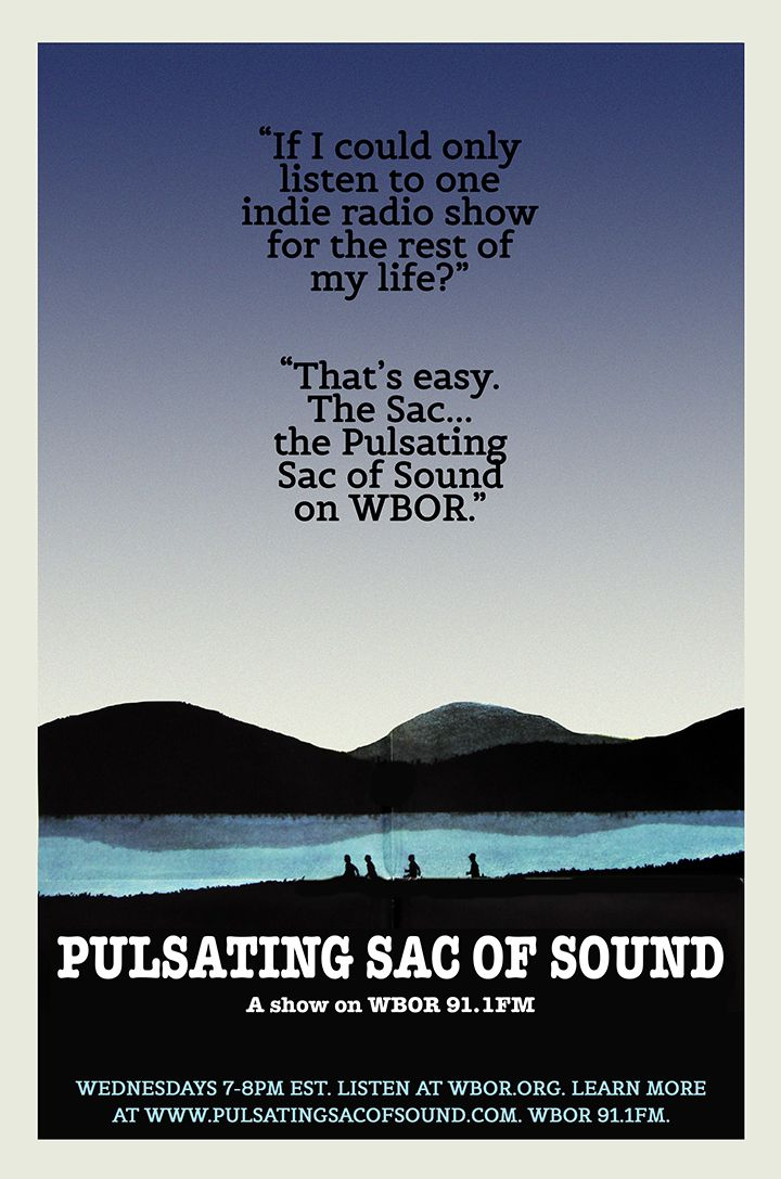 The Pulsating Sac of Sound is a forward-looking indie college radio show on WBOR 91.1 FM at Bowdoin College in Brunswick, Maine. - See more at: http://pulsatingsacofsound.com