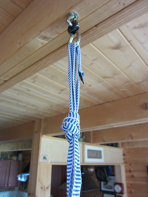 How To Hang A Doorway Jumper From A Floor Joist With Images
