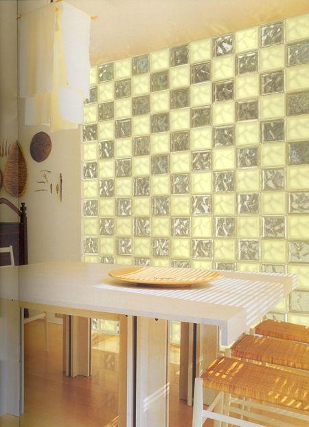 Descubre c mo decorar con ladrillos de pav s ladrillos de cristal para tu hogar decoraci n - Decoracion con paves ...