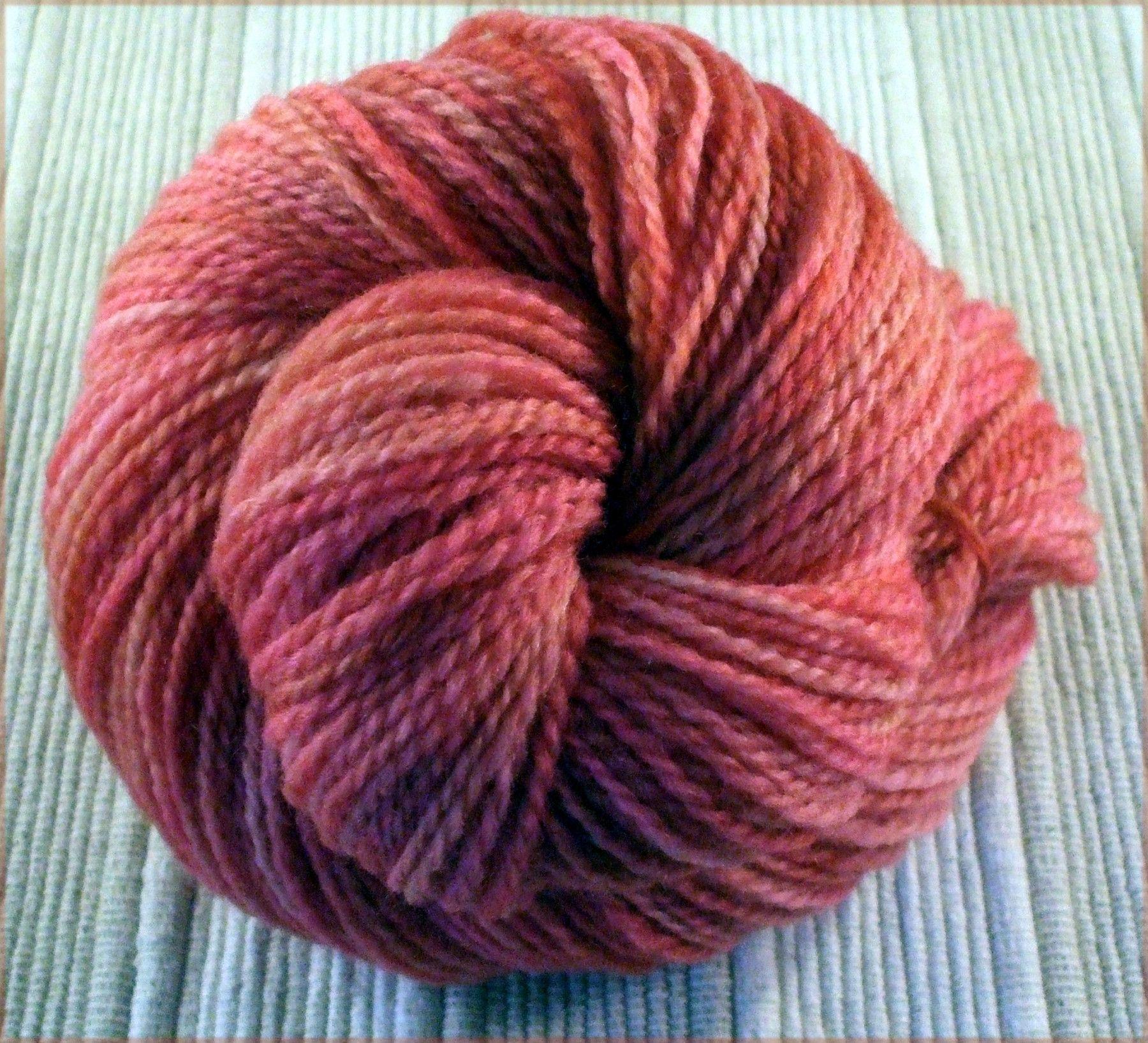 Homespun Heirloom Yarns Handspun Falkland Wool Sport Weight Yarn Sport Weight Yarn Handspun Yarn