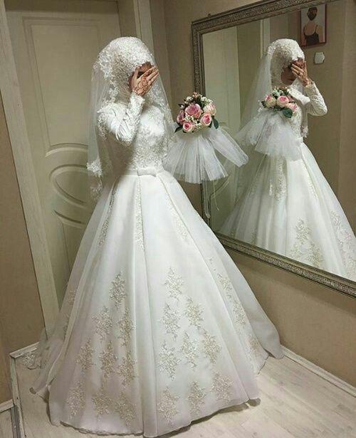 Tendance Mode 50 Des Plus Belles Robes De Mariage Pour Les Mariées Voilées Robes De Mariée Avec Hijab Robe De Mariée Musulmane Robe De Mariage