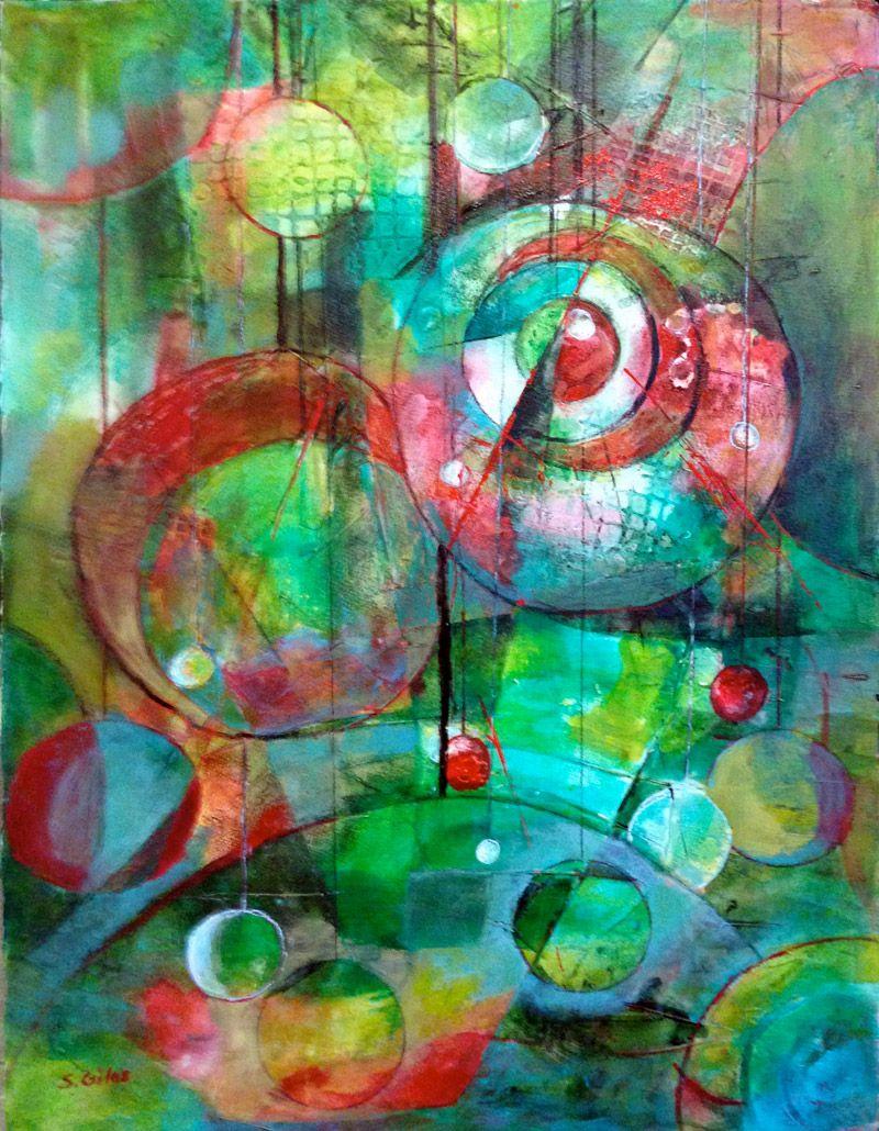 Sharon Giles Season\'s Glow Acrylic / wc pencil, 30″ x 22″, 2015 You ...