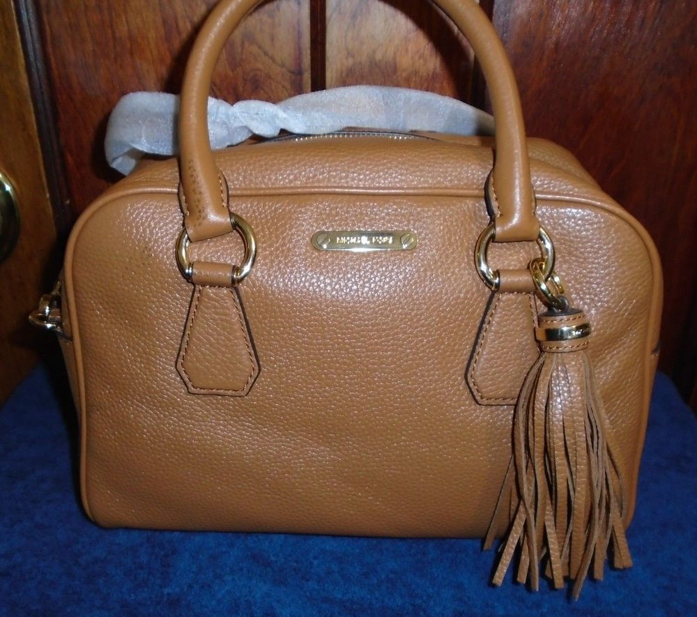 62ffd36bebe55 Michael Kors Bedford Medium Tassel Satchel Crossbody   Handbag - brown   Acorn  MichaelKors  Crossbody