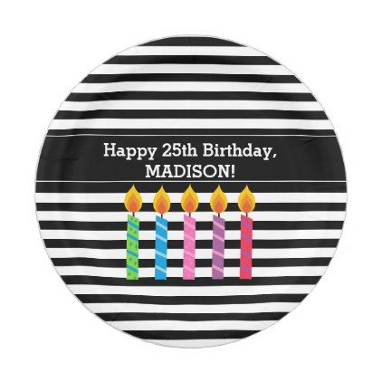 Personalized Birthday Candles Paper Plates - birthday gifts party celebration custom gift ideas diy  sc 1 st  Pinterest & Personalized Birthday Candles Paper Plates - birthday gifts party ...