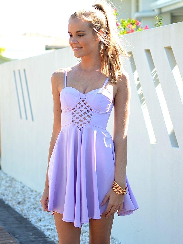 Purple Lace Dress Summer Dresses Dresses Fashion