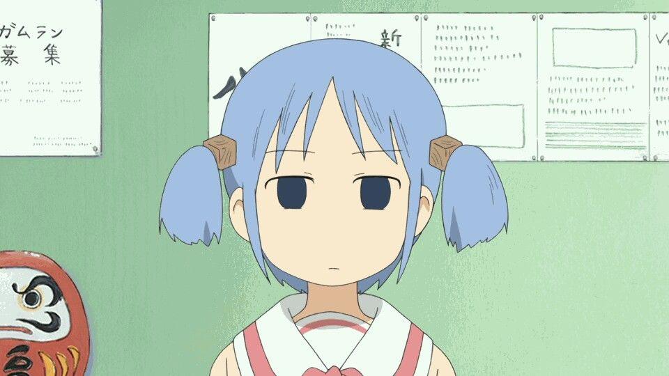 Nichijou nichijou anime expressions anime