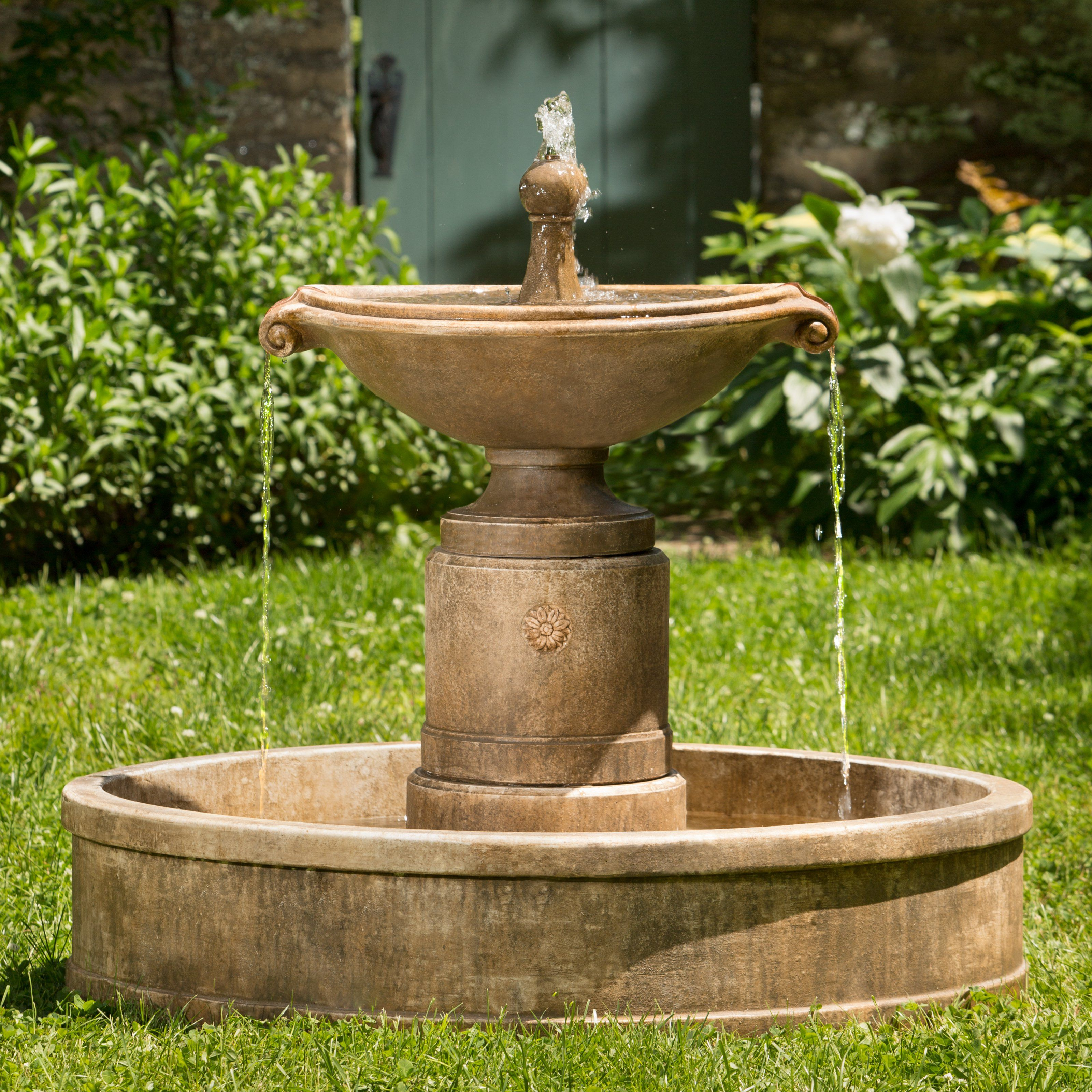 Campania International Borghese In Basin Outdoor Fountain   $979.99  @hayneedle