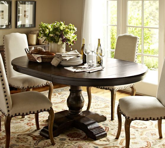 Cortona Extending Pedestal Dining Table  Pottery Barn  Dining Pleasing Dining Room Tables Pottery Barn Design Inspiration