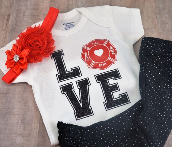 2d72ac1ba Love Hero Funny Baby One-Piece Newborn Shower Fireman Firefighter ...