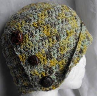 Nottinghamshire crochet cloche buttons