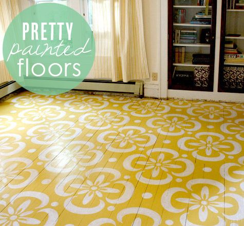 Pretty ideas for painted floors from Babble.com | DIY ...