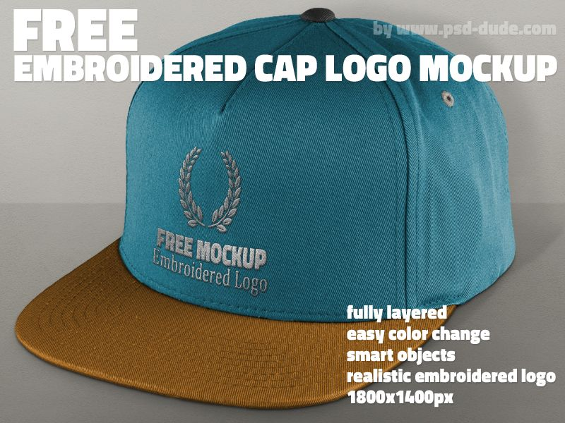 Download Free Cap Mockup Psd With Realistic Embroidered Logo Mockup Psd Mockup Free Mockup Logo