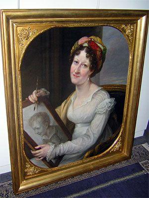 Sophie de Tott (1758-1848), Portrait de dame, huile sur toile, XIXème. Laurent Jornod - Restauration.
