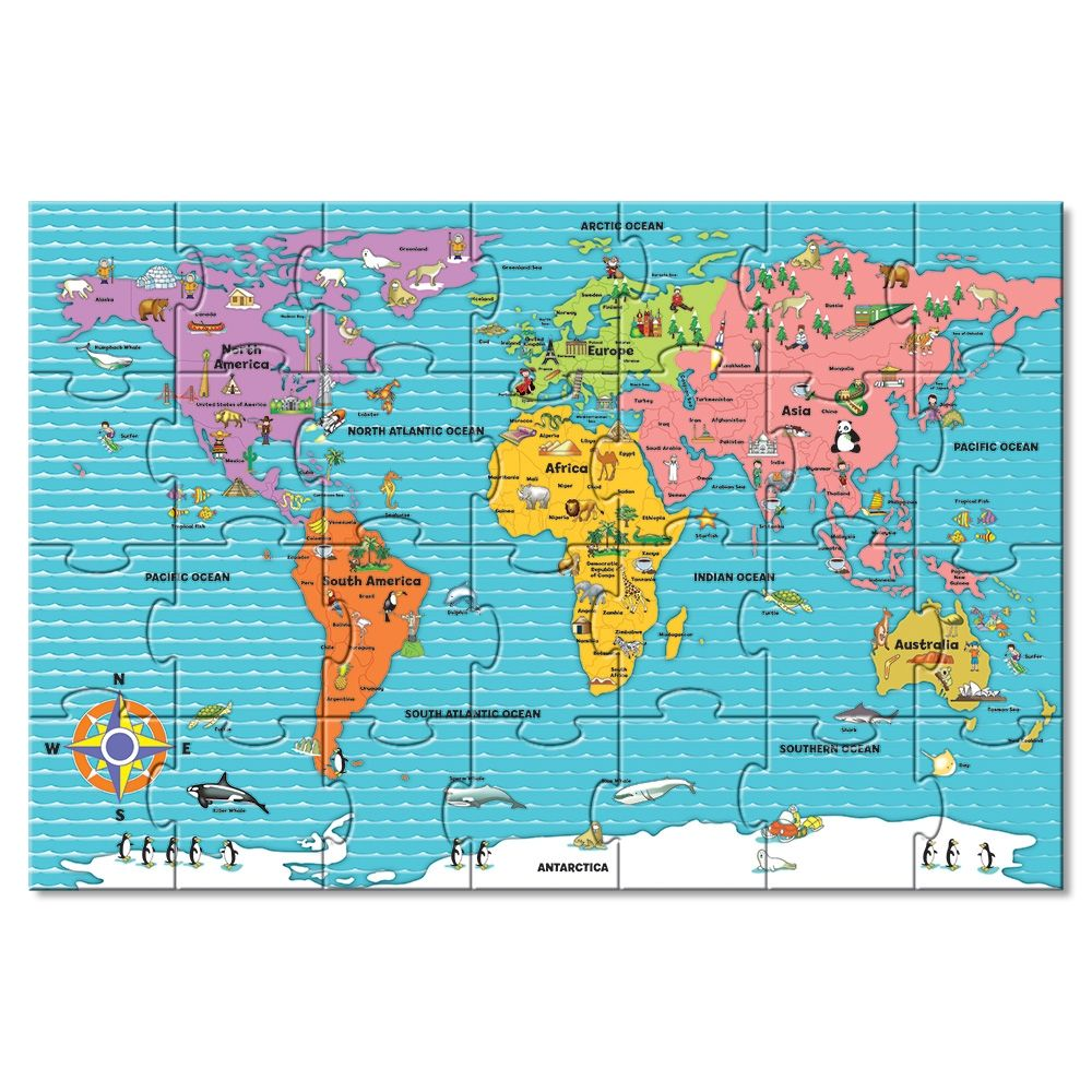 Map of babies r us giant world map floor puzzle 499 toys r us children sciox Gallery