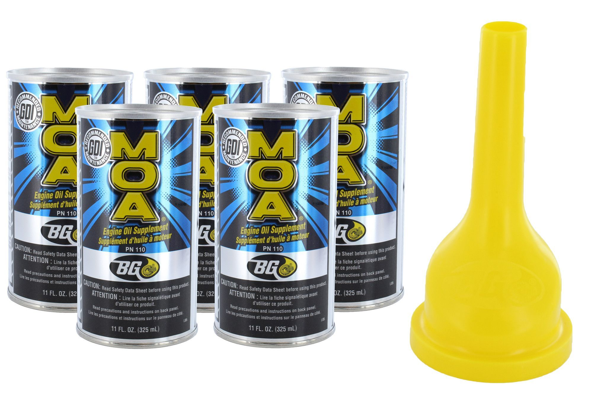 Automotive Oil Additive BG 5 Pack MOA with Funnel