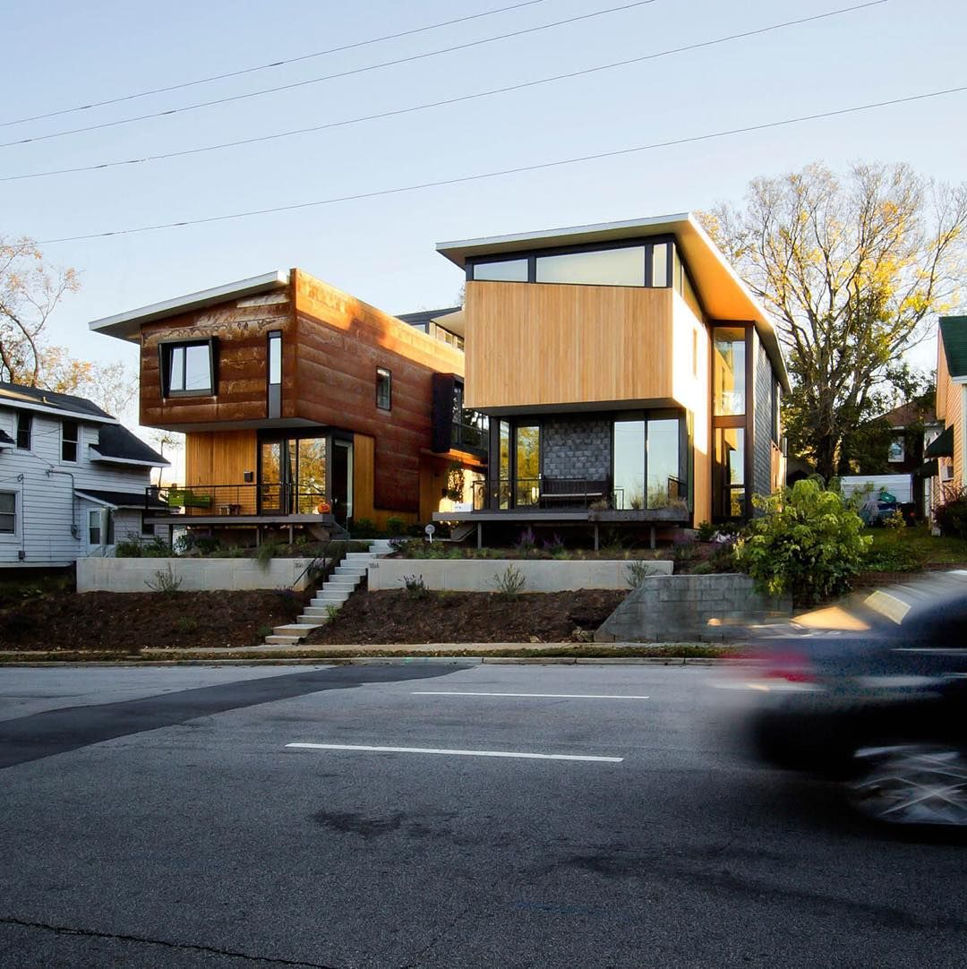 """Modern Urban Infill: """"@the_raleigh_architecture_co Designed A Pair Of Homes In"""