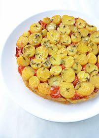 Tartin van krieltjes,  tomaat en geitenkaas