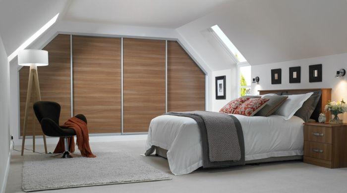 Dachgeschoss Einrichten Schlafzimmer Kleiderschrank Schiebetüren