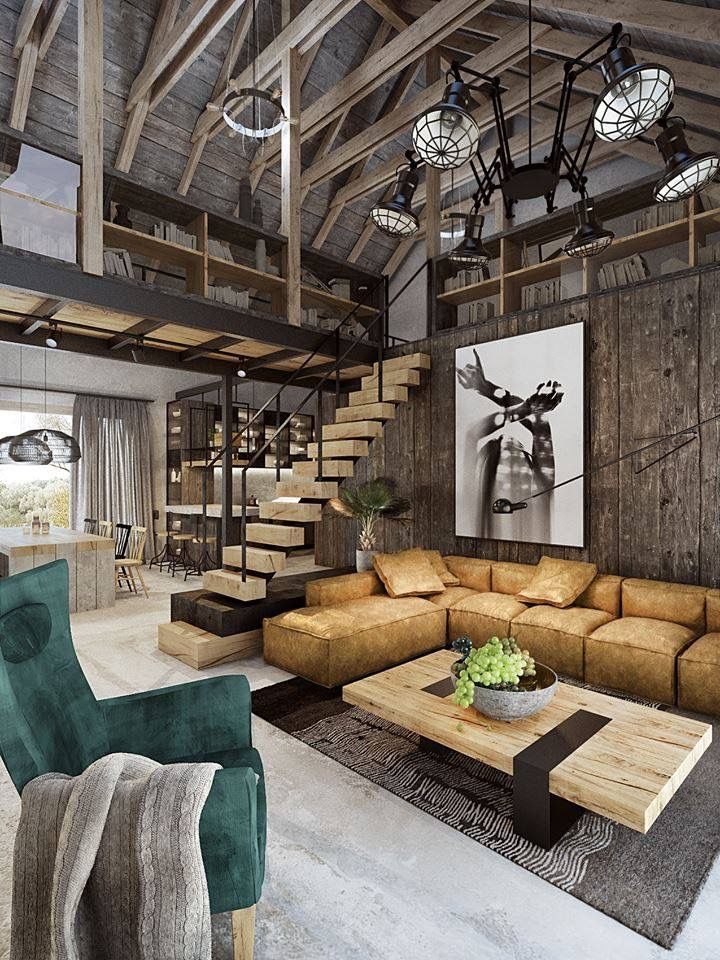 5 Dream New York Lofts To Get Inspired By! #industrialfarmhouselivingroom