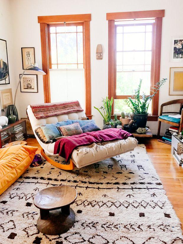 Boho Modern Living Room: Shayne's Vintage Modern Living Room