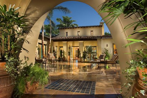Spanish Style Home Designs With Court Yard Regional Home